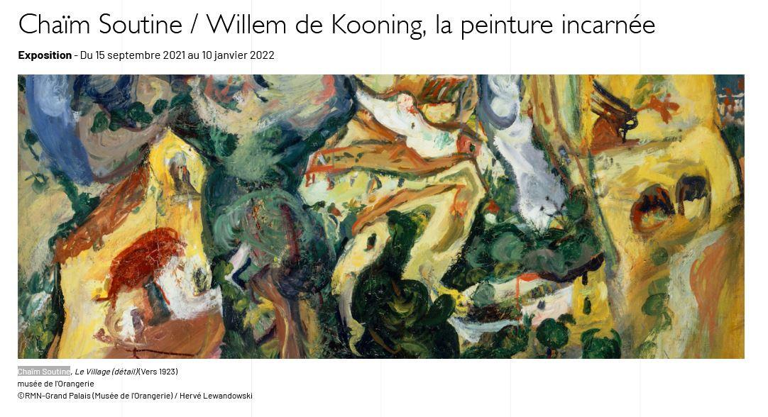柴姆•苏丁(Chaïm Soutine)/威廉•德•库宁(Willem de Kooning)作品展